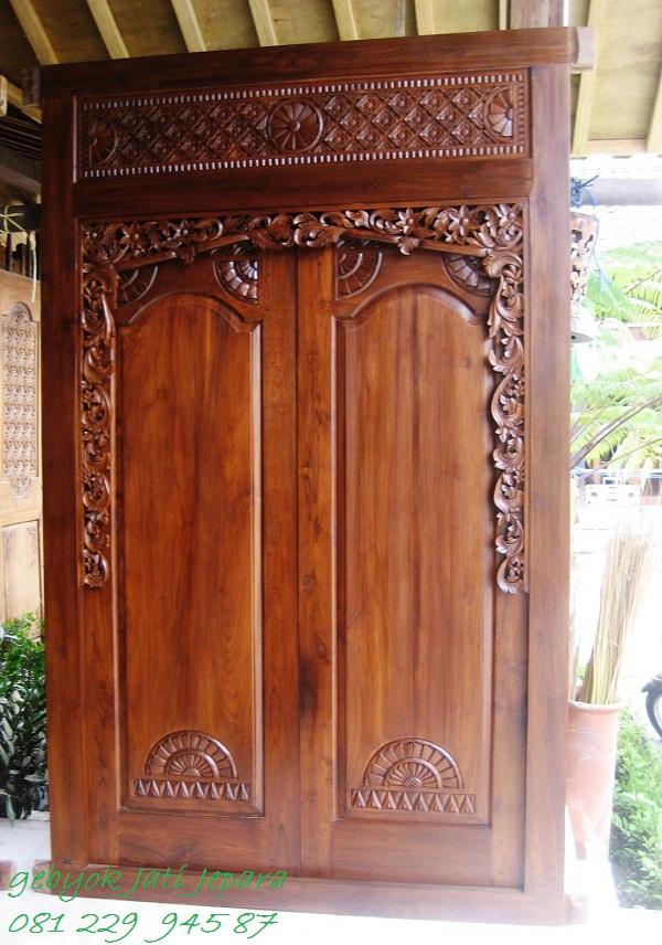 Jual Pintu Rumah Gebyok Minimalis 2 Dua Pintu Jati