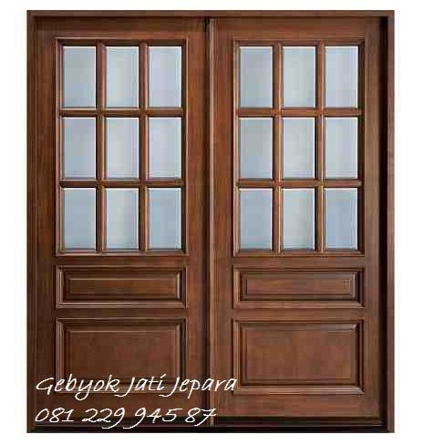 Jual Kusen Pintu Rumah Kaca Cermin Minimalis Jati