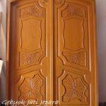 Jual Kusen Pintu Rumah Kupu Tarung Ukir Kayu Jati