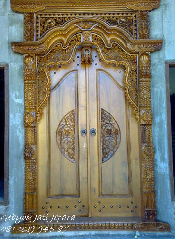 Jual Kusen Gebyok Jepara Gapura 2 Pintu Rumah