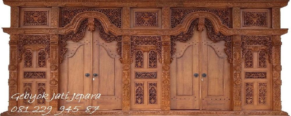 Pintu Gebyok Jati Jepara 1