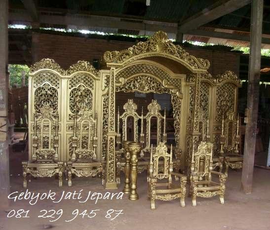Jual Gebyok Pelaminan Mewah Dekorasi Pengantin