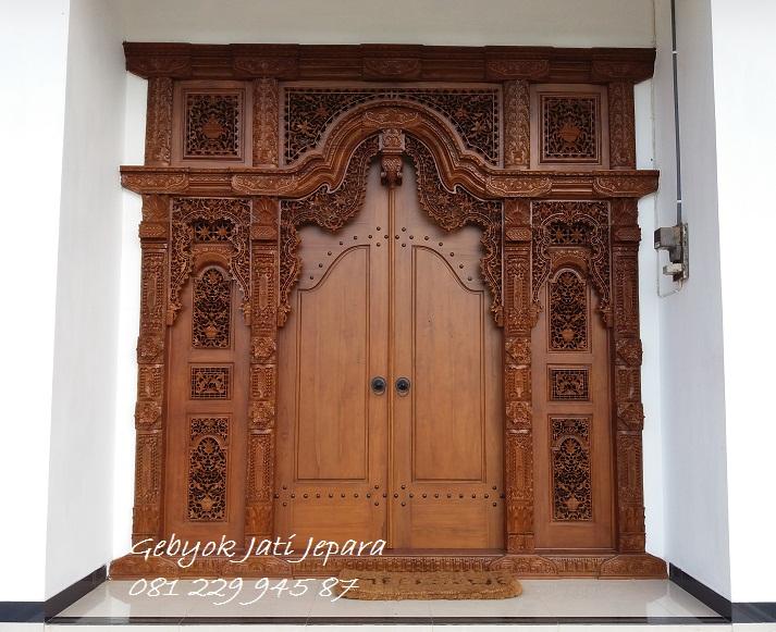 Desain Rumah Minimalis Menggunakan Pintu Gebyok Jepara - Pintu Gebyok Jati  Jepara - Pintu Gebyok Jati Jepara