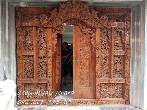 Jual Pintu Gebyok Ukiran Bali Kusen Kayu Jati Ukir Jepara Murah