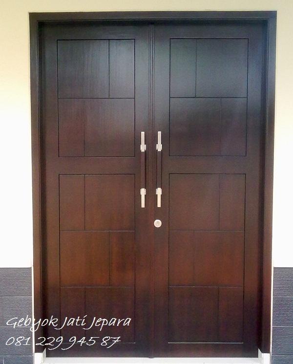 Jual Pintu Minimalis Kusen Rumah 2 Dua Pintu Kayu Jati Murah