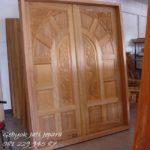 Jual Pintu Rumah Jepara Kayu Jati Minimalis 2 Dua Pintu Murah