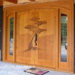 Jual Pintu Rumah Ukir-Ukiran Kayu Jati Jepara Minimalis 2 Dua Murah