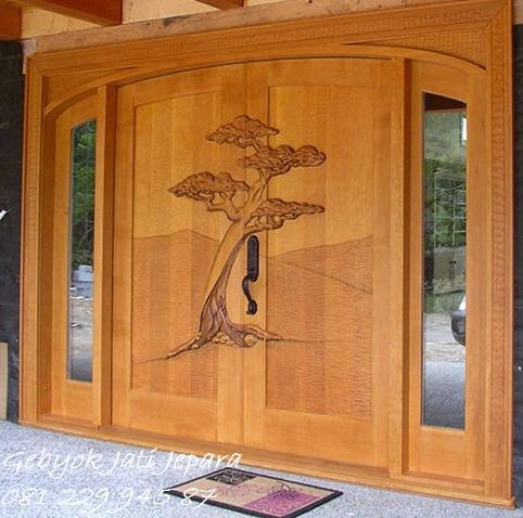 PINTU RUMAH UKIR | Jual Pintu Rumah Ukir-Ukiran Kayu Jati Relief Jepara Minimalis Mewah Modern Klasik Model Kusen Harga Murah