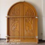 Jual Pintu Rumah Unik Kayu Jati Jepara Dua 2 Pintu Murah