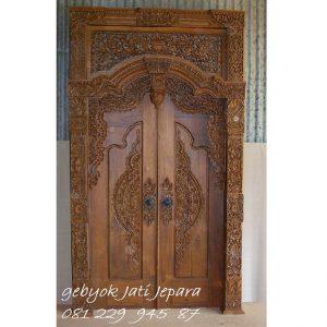 Gebyok Kayu Jati 2 Pintu