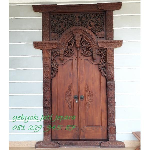 Jual Gebyok 2 Dua Pintu Rumah Ukir Kayu Jati Jepara Murah