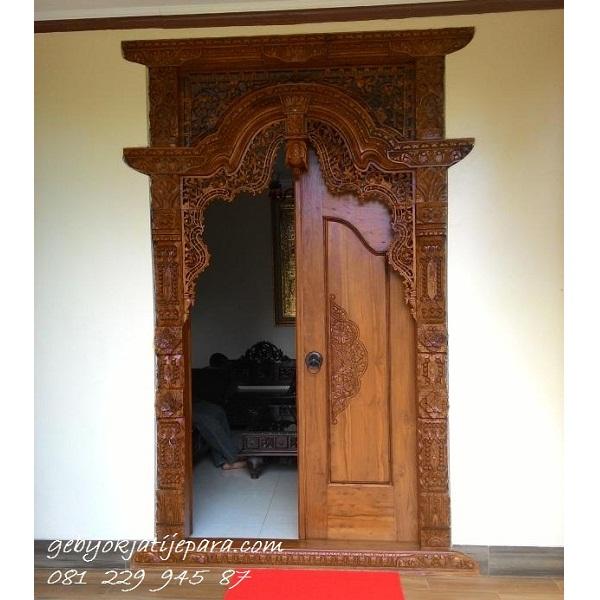 Jual Gebyok 2 Dua Pintu Kuno Ukir Kayu Jati Jepara Murah