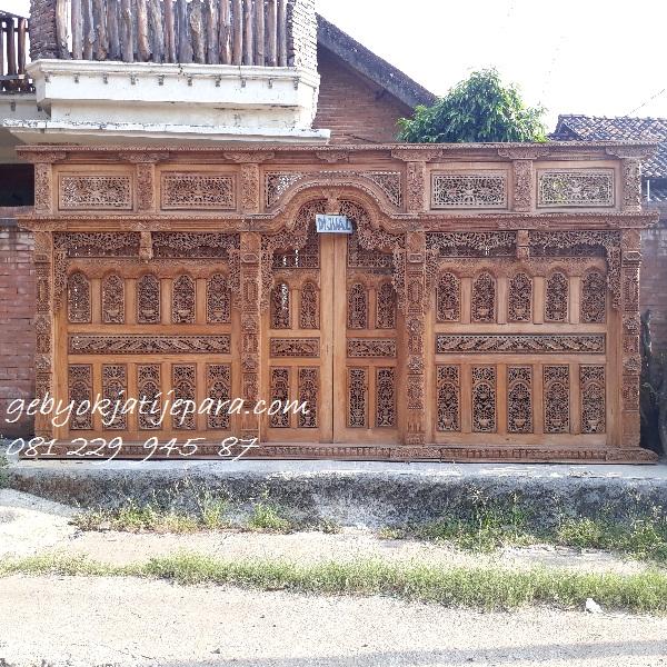 Jual Kusen Pintu Gebyok Kayu Jati Stock Pintu rumah Ukir Jepara Murah