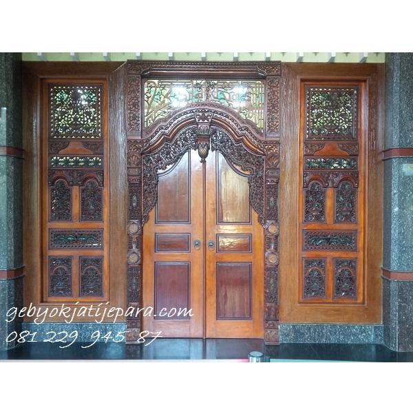 Jual Kusen Rumah Kayu Jati Ukir Jepara Pintu Gebyok Masjid Jami Aceh Murah
