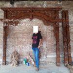 Pintu Rumah Kongleong Bapak Jauhari Jakarta Kusen Kayu Jati Jepara Harga Murah