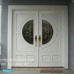 Jual Pintu Rumah Mewah Model Depan Utama Warna Putih Jepara Kayu Minimalis Modern Klasik Kupu Tarung Harga Murah