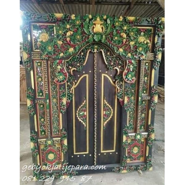 Pintu Gebyok Bali Pancawarna Ibu Susan | Jual Kusen Pintu Rumah Gebyok Jati Denpasar