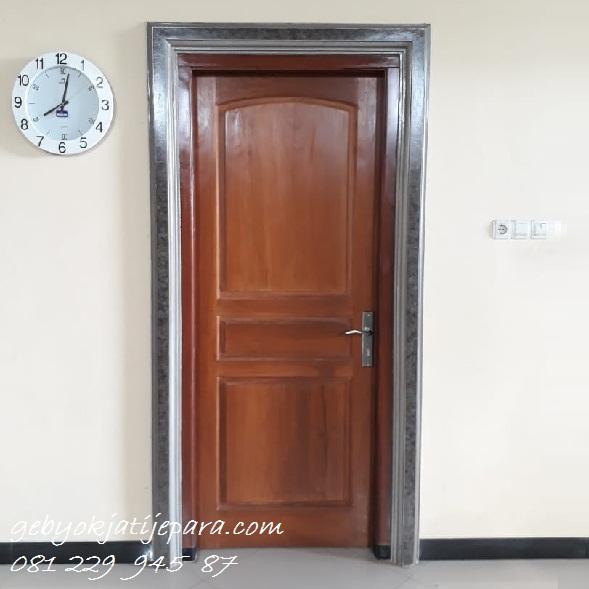 Jual Kusen Pintu Kamar Rumah Bapak Asropi Kalimantan Kayu Jati Minimalis Harga Murah
