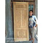 Jual Kusen Pintu Rumah Kayu Jati Ukir Klasik Ibu Dadang Bali Denpasar Harga Murah