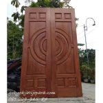 Jual Kusen Pintu Rumah Kupu Tarung Bapak Made Bali Kayu Jati Minimalis 2 Pintu Harga Murah