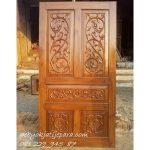 Pintu Rumah Pesanan Bapak Nanang Bandung | Pintu Rumah Kayu Jati Ukir