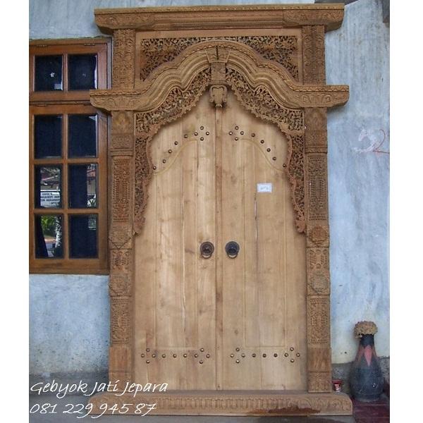 GEBYOK DUA PINTU KAYU JATI | Jual Gebyok Dua Pintu Kayu Jati Ukir Jepara Model Kusen 2 Pintu Kamar Rumah Mewah Klasik Jawa Harga Murah