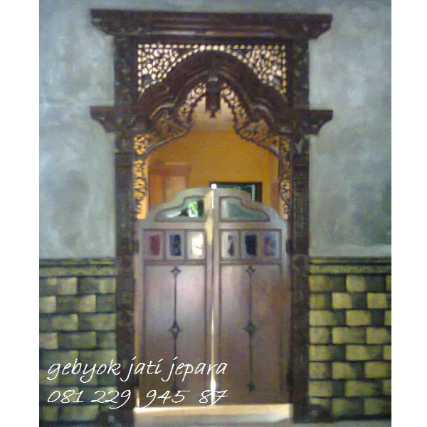 GEBYOK DUA PINTU KOBOI | Jual Gebyok Dua Pintu Koboi Kayu Jati Ukir Jepara Model Kusen Rumah Kongliong Mmewah Klasik Harga Murah