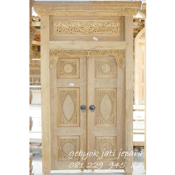GEBYOK DUA PINTU MODERN | Jual Gebyok Dua Pintu Modern Minimalis Mewah Klasik Kayu Jati Ukir Jepara Model Kusen 2 Pintu Kamar Rumah Harga Murah