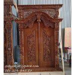 GEBYOK DUA PINTU UKIR | Jual Gebyok Dua Pintu Ukir-Ukiran Kayu Jati Jepara Model Kusen 2 Pintu Rumah Mewah Klasik Harga Murah
