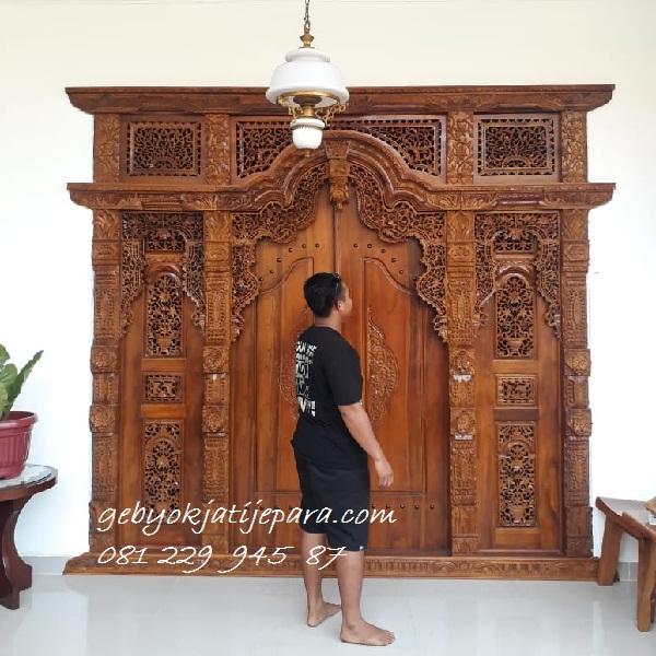 Harga Pintu Gebyok Ukir Jepara Jawa Tengah Murah | Kusen Pintu Rumah Gebyok Jepara Kayu Jati Murah