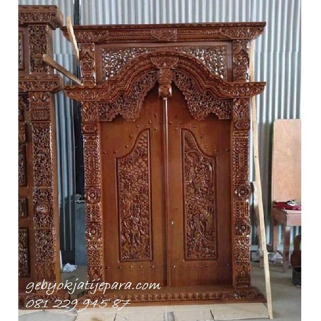 Pintu Gebyok Mebel Jepara | Kusen Pintu Gebyok Rumah Kayu Jati