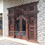 Pintu Rumah Gebyok Kaca | Kusen Kayu Jati Ukir Gebyok Jepara